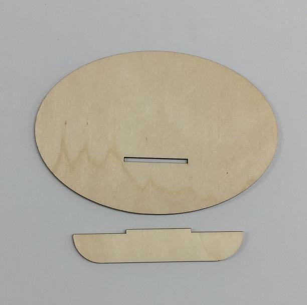 Ovale con mensola - 19 cm