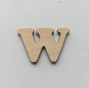 W - 1 cm